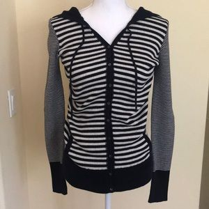 Cozy Striped Sweater with Hood